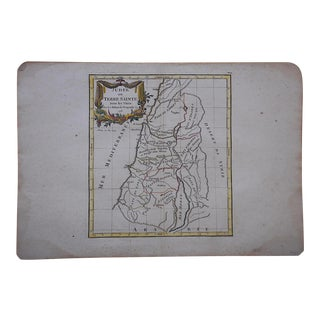 Antique 18th C. Map-Judea For Sale