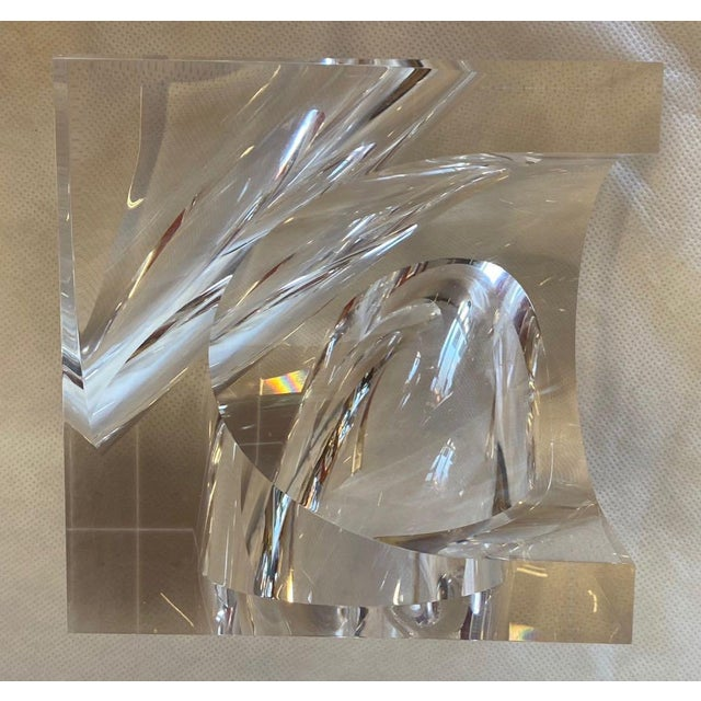 1970s 1970s Italian Alessio Tasca Lucite Sculpture For Sale - Image 5 of 11