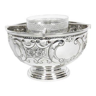 Old Sheffield Silver Plate / Copper Three-Piece Caviar Set For Sale