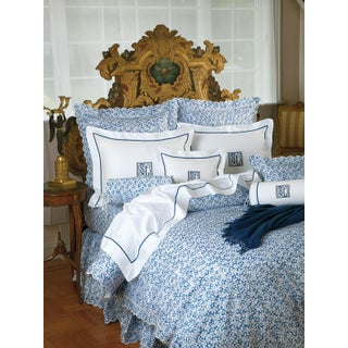 Petals Duvet Cover in Blue in Full For Sale