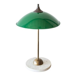 Italian Desk Lamp in Brass and Marble by Stilux, 1950s For Sale