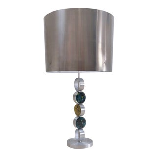 1970s Raak Aluminium, Steel & Glass Table Lamp by Nanny Still, Dutch For Sale