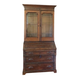 19th Century Victorian Secretary Desk For Sale