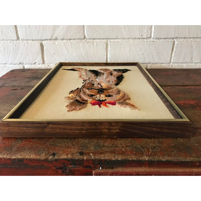 Handmade Framed Yorkie Dog - Image 8 of 10