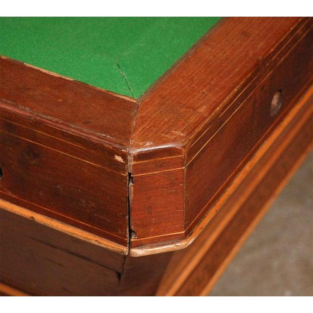 Felt 1860s Italian Carom Mahogany Billiard Table With Inlay For Sale - Image 7 of 12