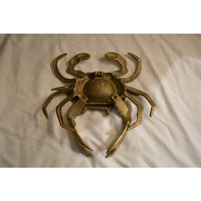Vintage Lidded Brass Crab Ashtray - Image 5 of 6