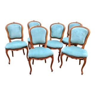 Set of 6 Louis XVI French Dining Chairs