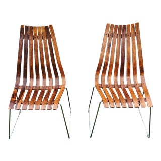 1960s Vintage Hans Brattrud Rosewood 'Scandia' Chairs- A Pair For Sale