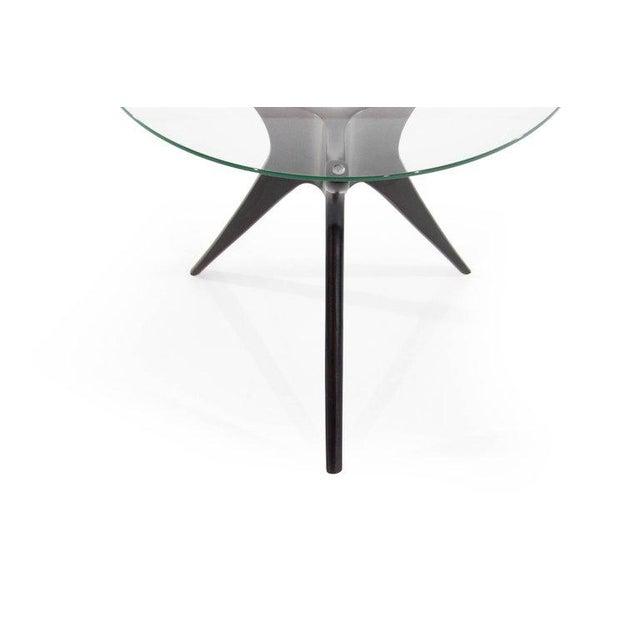 Glass 1950s Vladimir Kagan Walnut Trisymmetric End Tables - a Pair For Sale - Image 7 of 10