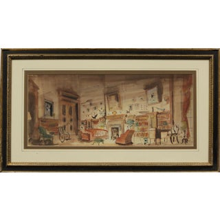 Theatrical Stage Interior Set For Sale