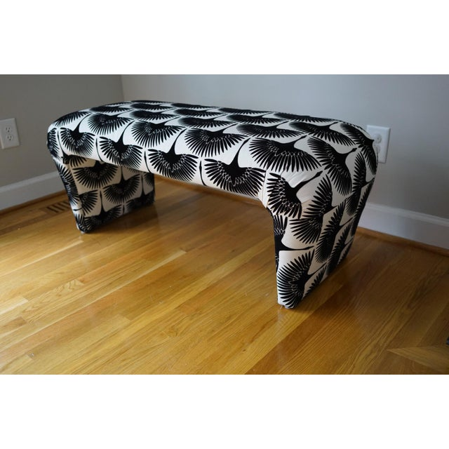 Velvet Swan Upholstered Waterfall Bench - Image 3 of 9