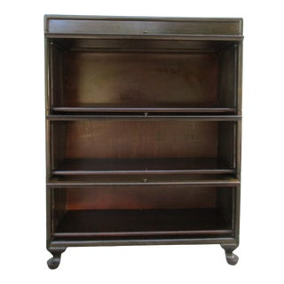 20th Century English Traditional Three Stack Barrister Bookcase For Sale