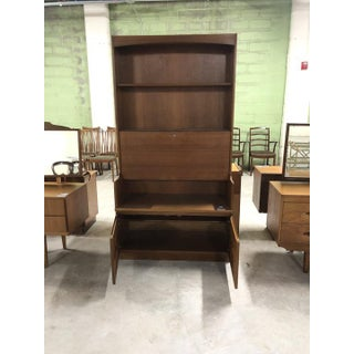 Vintage Mid Century Nathan Tall Cabinet With Drop Front Preview