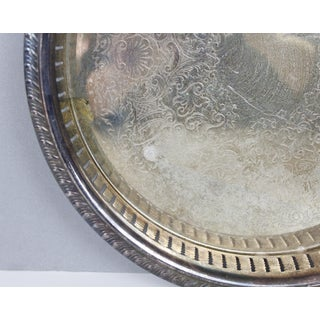 Vintage Round Silver Plated Tray Platter Art Deco Sheridan Silver Preview
