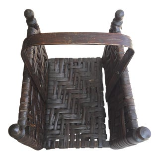 Leather and Wood Firewood Holder