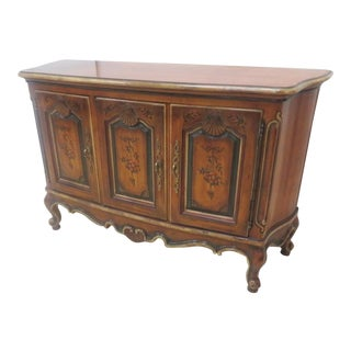 Drexel French Provincial Decorated Credenza