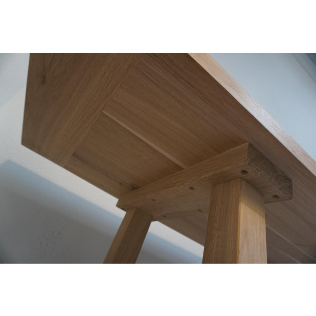 Oak Bohemian Works Natural Wood Extra Long Console Table For Sale - Image 7 of 9