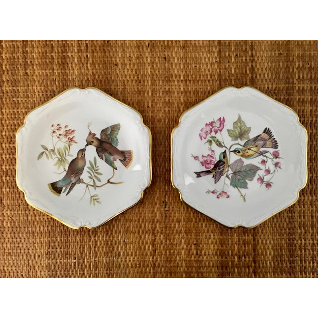 Adorable Vintage German plates by Bavaria. These birds would add great character to any room! The geometric silhouette of...