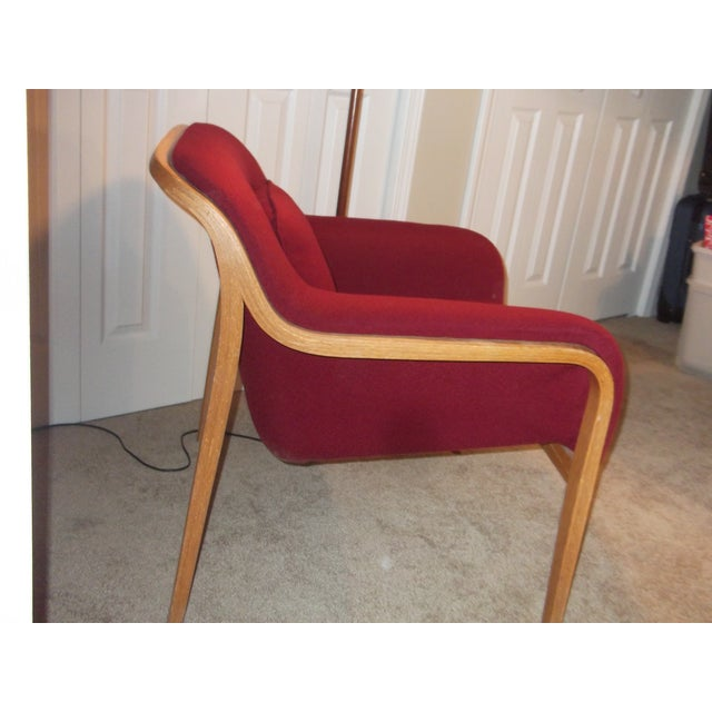 Red Bill Stephens Knoll Lounge Chair For Sale - Image 8 of 10