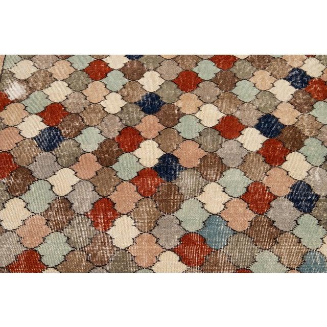 Vintage Turkish Scatter Wool Rug 4 X 8 For Sale - Image 11 of 13