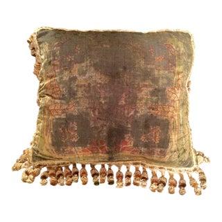 1930s Vintage Art Nouveau Silk Velveteen Pillow For Sale