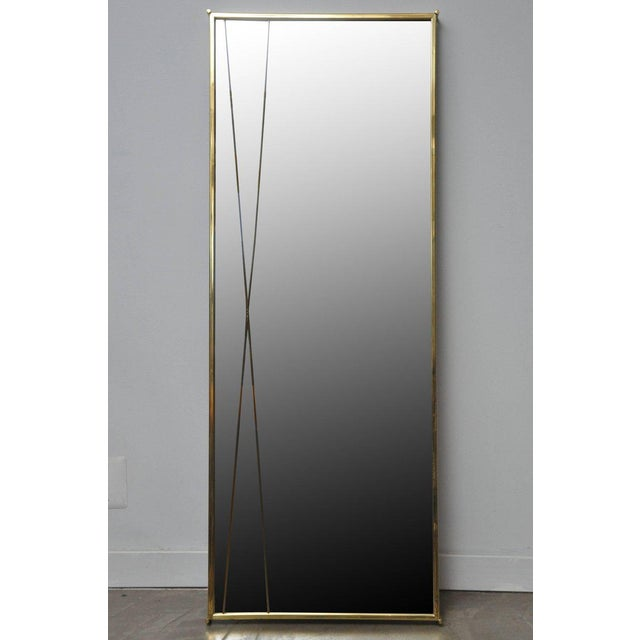 Brass 'X' mirror by Paul McCobb for Bryce Originals. Designed in 1956 to compliment the Calvin Group of furniture. Brass...