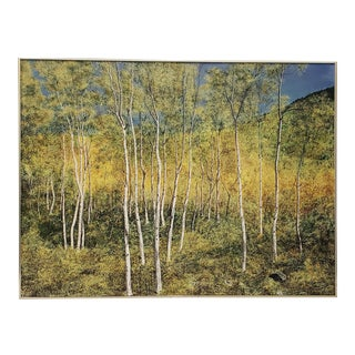 """Large Scale """"Fall Colors of a Birch Forest"""" Original Painting by Kirchgessner 20th C. For Sale"""