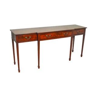 Wood & Hogan Custom Mahogany Federal Style 3 Drawer Sideboard