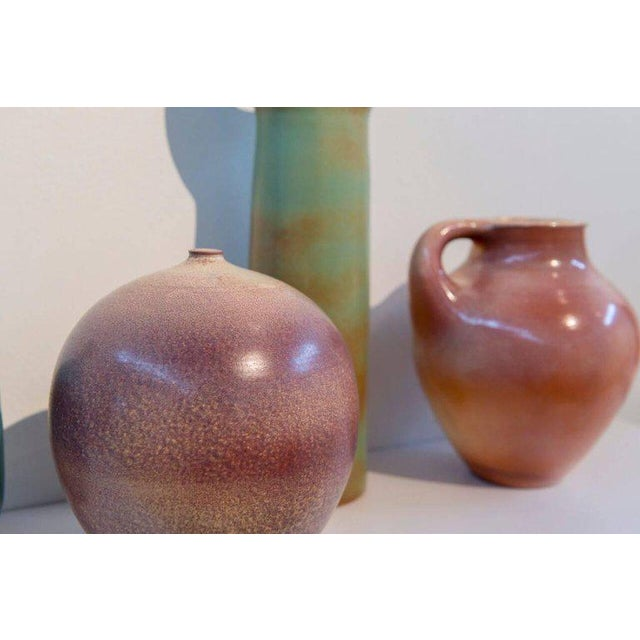 1960s Suzanne Ramie, Madoura Studio, Four Colorful Ceramic Vases For Sale - Image 5 of 8