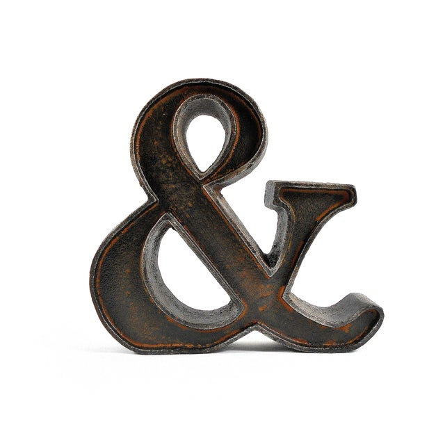 Cast Iron Ampersand Paperweight - Image 2 of 7