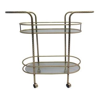 1970's Milo Baughman Style Bar Cart For Sale