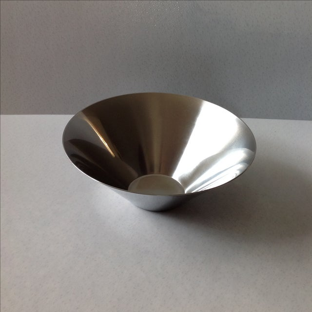 Gabis Sweden Stainless Steel Bowl by Nils Nisbel For Sale - Image 7 of 9