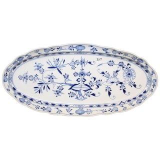 Meissen Porcelain Blue Onion Fish Platter