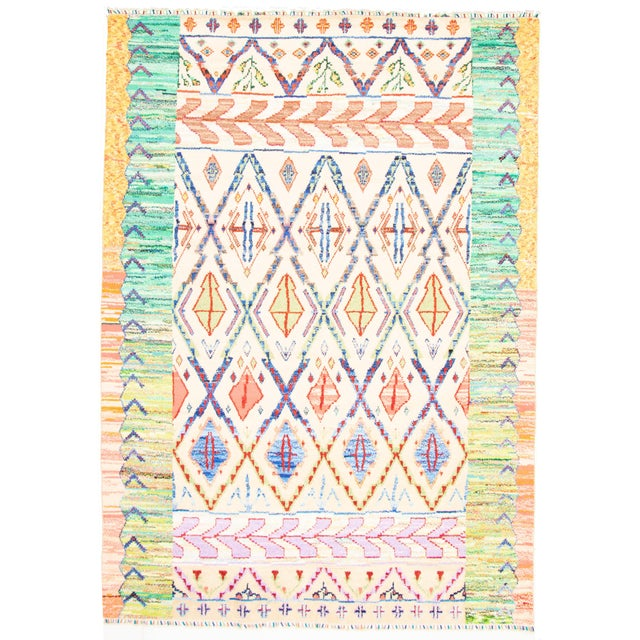 """Moroccan Style Hand-Knotted Rug-8'10"""" X 12'6"""" For Sale - Image 9 of 9"""