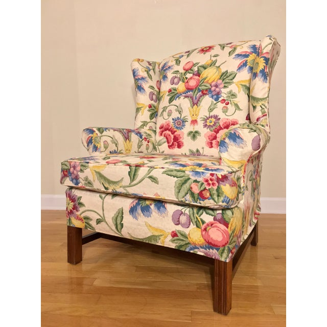Traditional Newly Upholstered Georgian Style Wingback Chairs - a Pair For Sale - Image 3 of 11