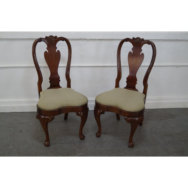 Walnut Georgian Queen Anne Dining Chairs - 6 - Image 2 of 10