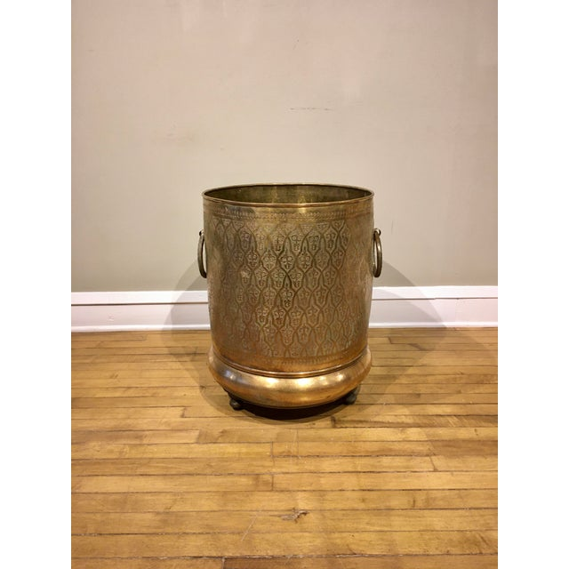 Late 20th Century Moroccan Brass Planter For Sale - Image 12 of 12