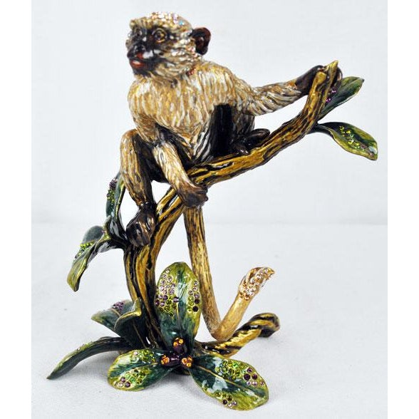 Monkey on branch jungle edition jay strong water sculpture with original box and certificate of authenticity. Highly...