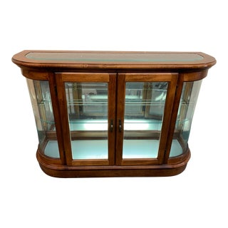 Curved Glass Display Cabinet For Sale