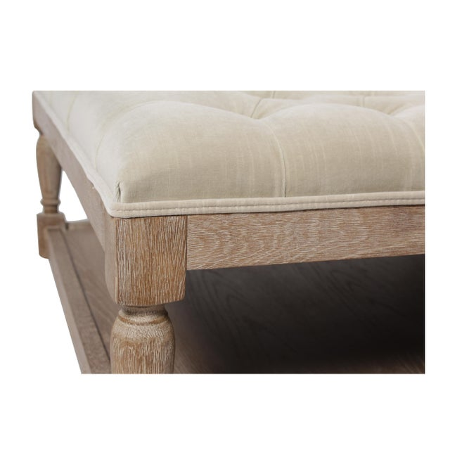 Blink Home Voltaire Tufted Ottoman For Sale - Image 4 of 6