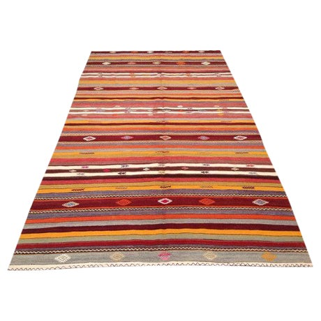 Vintage Turkish Kilim Rug - 5′10″ × 10′7″ - Image 1 of 6