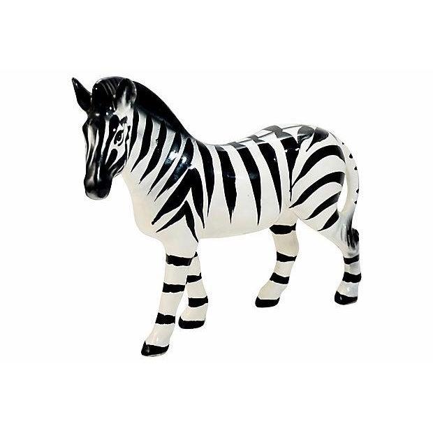 Italian Handmade Zebra Figurine For Sale In Chicago - Image 6 of 9