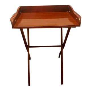 Vintage Mid-Century Scheibe Tray Table For Sale
