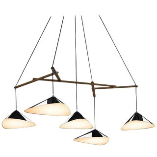 Large Daniel Becker 'Emily' Five-Shade Chandelier