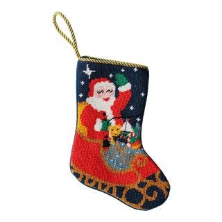 Sleigh Ride Santa Bauble Stocking