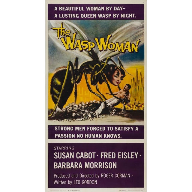 Superb poster for Roger Corman's The Wasp Woman. Classic 50s horror artwork and looks magnificent on the scale of the US 3...