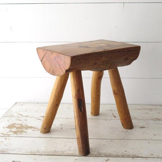 1980s Split Log Side Table For Sale - Image 5 of 9