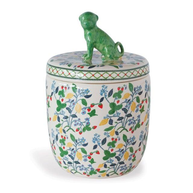 Transitional Crewel Summer Jar For Sale - Image 3 of 3