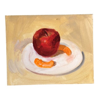 Original Contemporary Still Life Painting Apple & Orange Slices