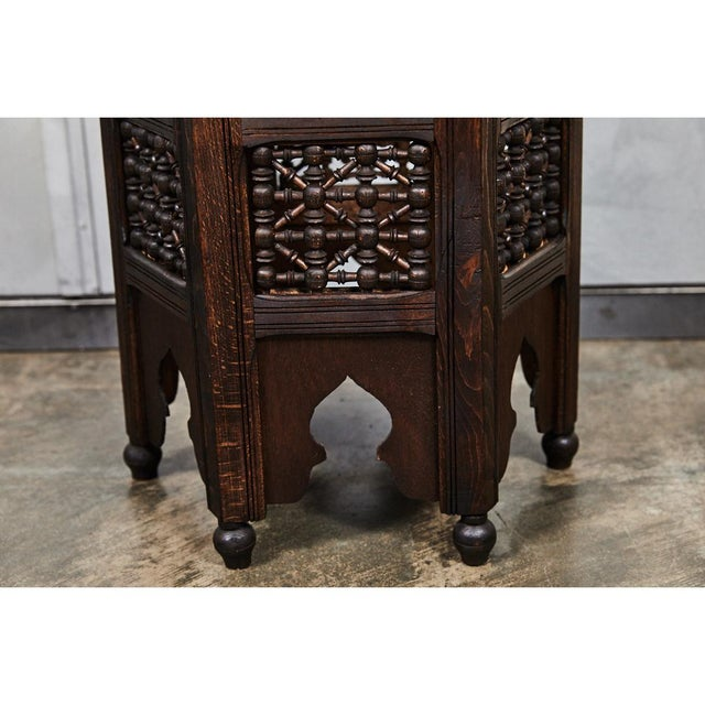Indian Six Sided Tabouret For Sale - Image 4 of 5